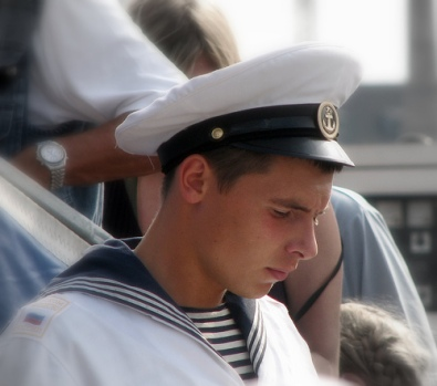 Russion sailor in uniform